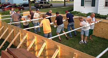 Human Foosball - Custom foosball table