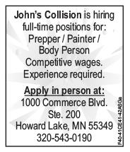 Help Wanted - John's Collision